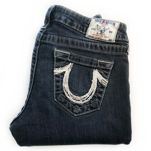 "TRUE RELIGION | ""Straight"" Leg Low Rise Jeans"